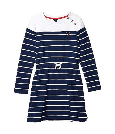 Tommy Hilfiger Kids Breton Stripe Dress (Big Kids) (Flag Blue) Girl