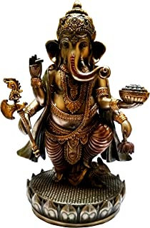 Rakhi Purpledip Rakshabandhan Set de Regalo: Estatuilla Ganesha-Om rakhi74 Roli Chawal en Embalaje de Paan Rojo Auspicious