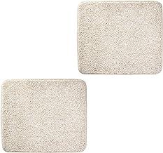 mDesign Soft Microfiber Polyester Non-Slip Small Rectangular Spa Mat, Plush Water Absorbent Accent Rug Bathroom Vanity, Ba...
