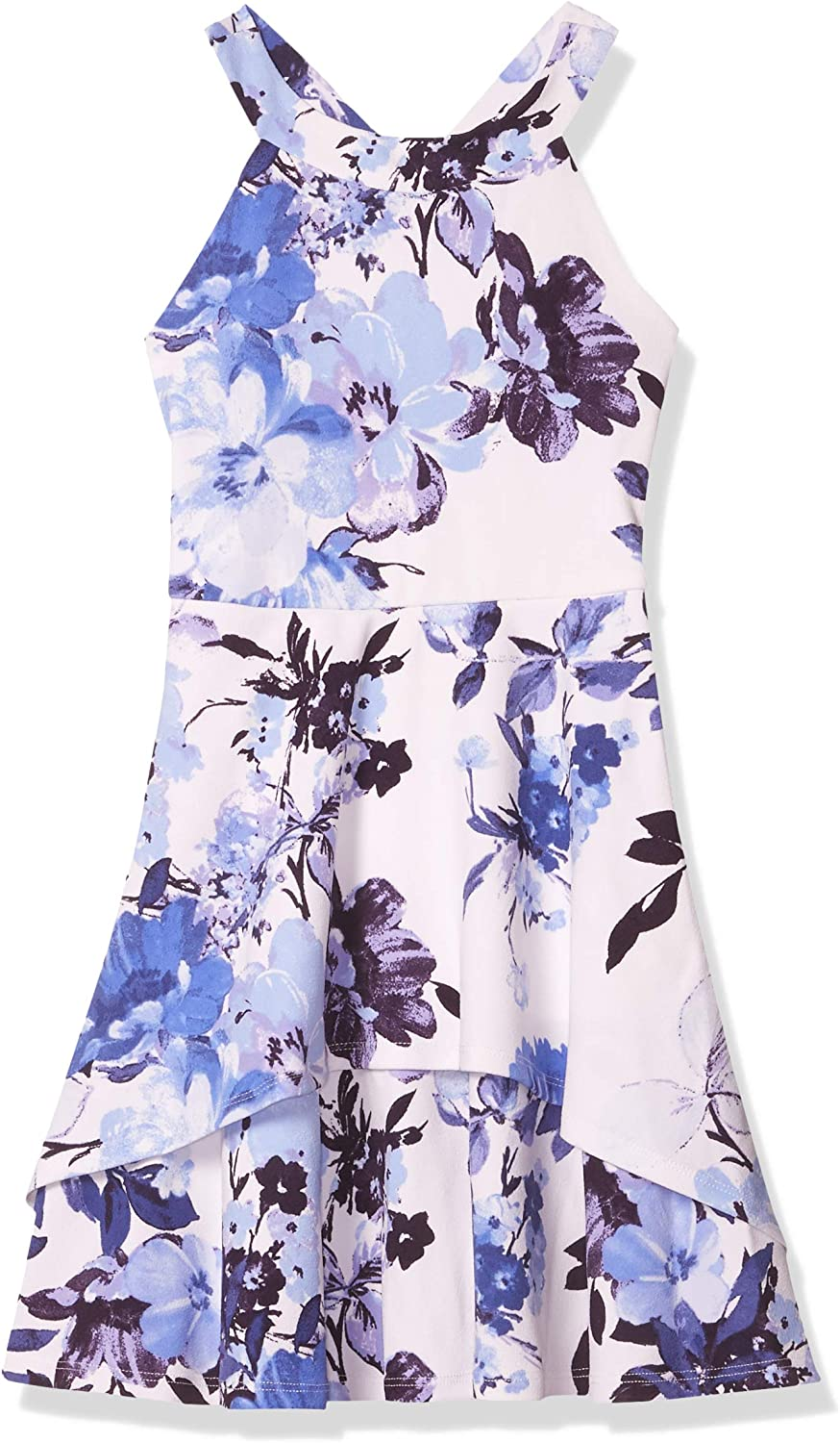 Speechless Girls' Fit & Flare Dress with Layered Skirt