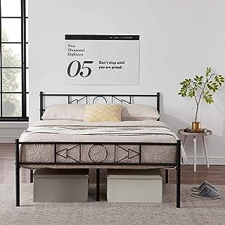 EGOONM Cadre de lit en métal - Cadre de lit en métal avec Les Nuages Motif, avec Grand Espace de Rangement et pour Adulte...
