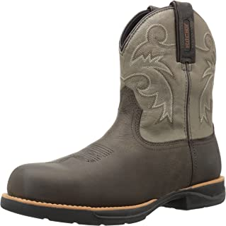 ROCKY Women's RKW0218 Western Boot, Dark Brown and Slate, 11 M US