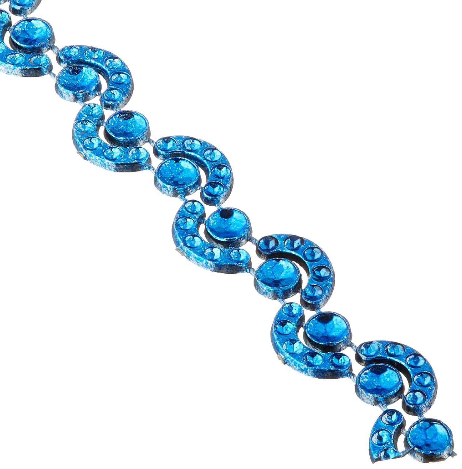 Homeford Firefly Imports Wave Rhinestone Trim Strand, 7mm, 10 Yards, Royal Blue