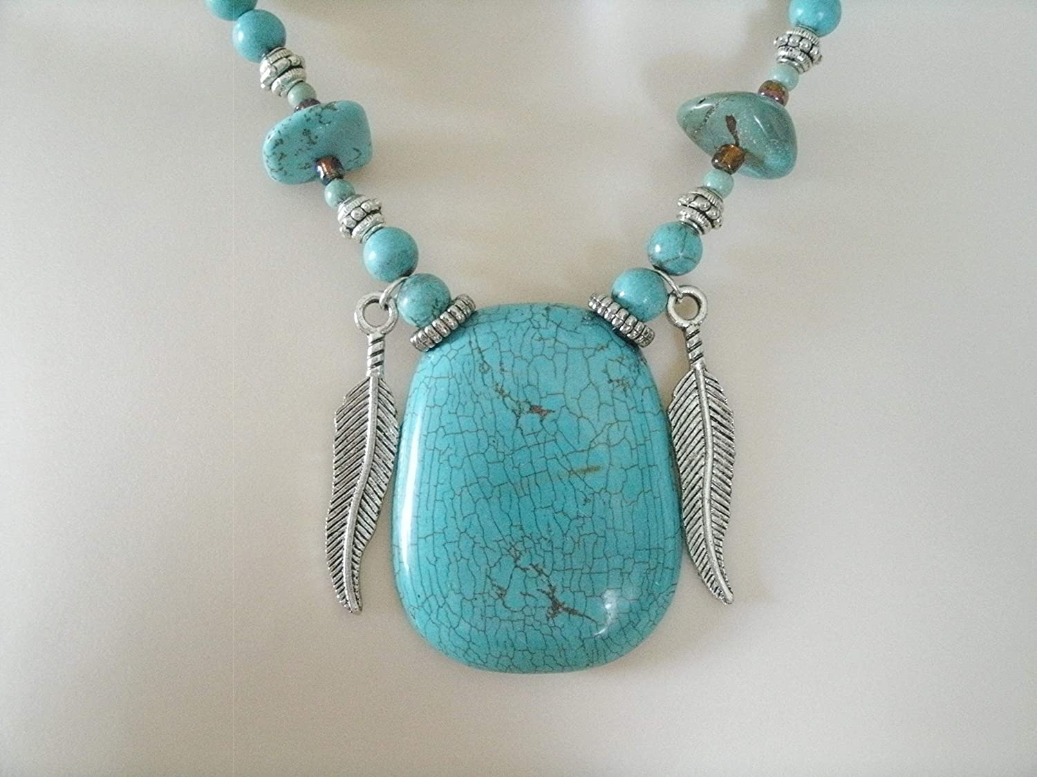 Turquoise Necklace handmade Outlet sale feature jewelry southwestern count Max 89% OFF southwest