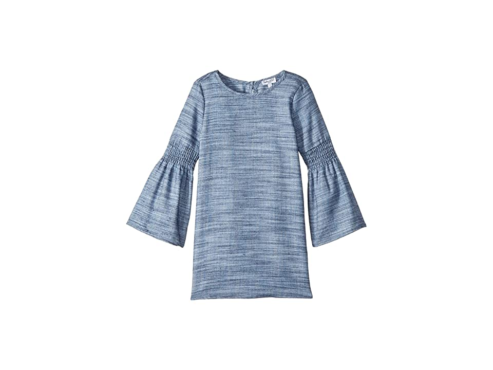Splendid Littles Bell Sleeve Midi Dress (Little Kids) (Denim) Girl