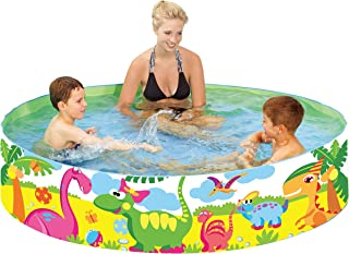 "Taylor Toy Snapset Swimming Pool for Kids | Toddler and Baby Pool | 71"" Diameter x 15"" Depth, 203 Gallon Kiddie Pool | Dinosaur"