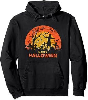 Cimetière grunge effrayant Happy Halloween Sweat à Capuche