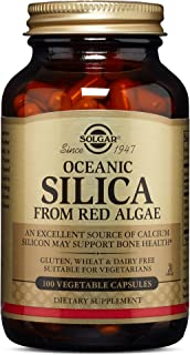 Solgar Oceanic Silica from Red Algae 25 mg, 100 Vegetable Capsules - Excellent Source of Calcium, Supports Bone Health - N...