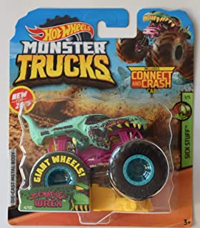Monster Truck HOT Wheels 1:64 Scale Sick Stuff 1/5 Zombie WREX 4/50 Includes Connect and Crash CAR