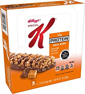 Kellogg's Special K Protein Meal Bars, Chocolate Caramel, Bulk Size, 48 Count (Pack of 6, 12.7 oz Trays)