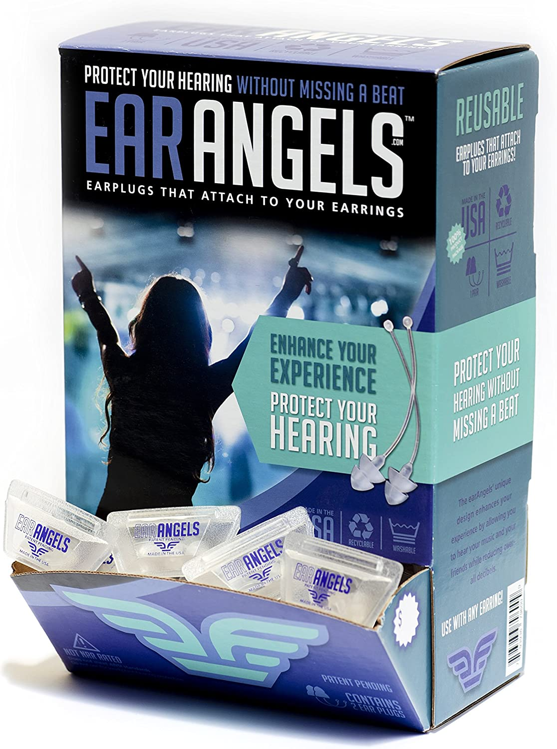 EarAngels Clearance SALE Safety and trust Limited time - High Fidelity Ear Pairs for Plugs Women 50