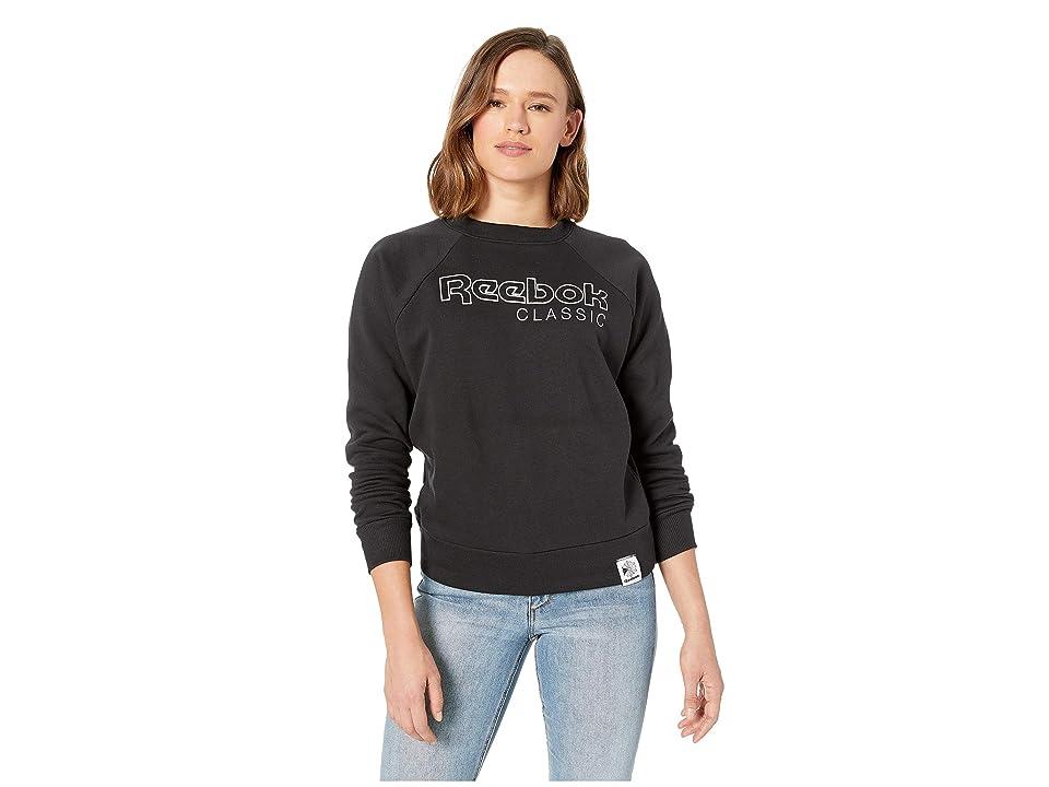 Reebok Activchill Iconic Fleece Crew (Black) Women