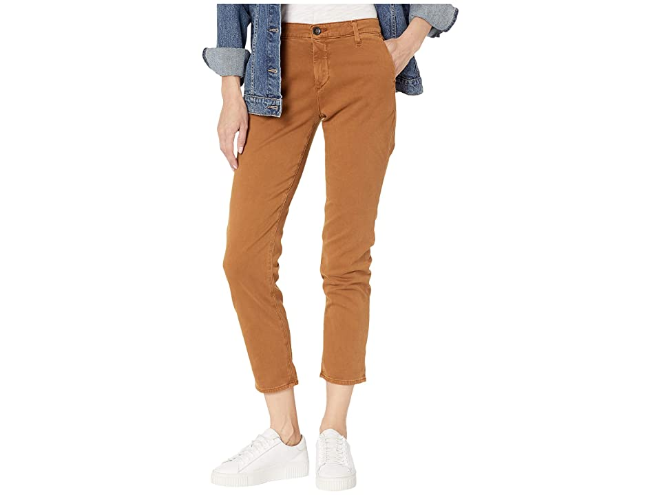 Image of AG Adriano Goldschmied Caden Pants in Sulfur Walnut Brown (Sulfur Walnut Brown) Women's Casual Pants