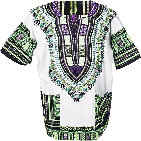 Cotton Shirt SHT005 Ornatcha Pha Fai Brand Green XS, S, M, L, XL, 2XL, 3XL Sizes African Dashiki Unisex Shirt