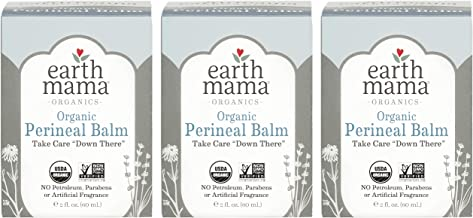 Organic Perineal Balm by Earth Mama   Naturally Cooling Herbal Salve for Pregnancy and Postpartum Relief, 2-Fluid Ounce (3-Pack)