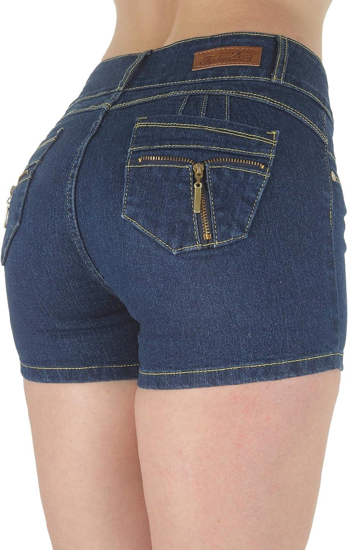 Fashion2Love Plus Size, Butt Lifting, Levanta Cola, Mid Waist Denim Booty Shorts