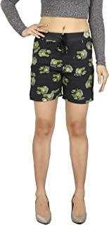 Fireage Women's Pure Cotton Printed Short with Pockets