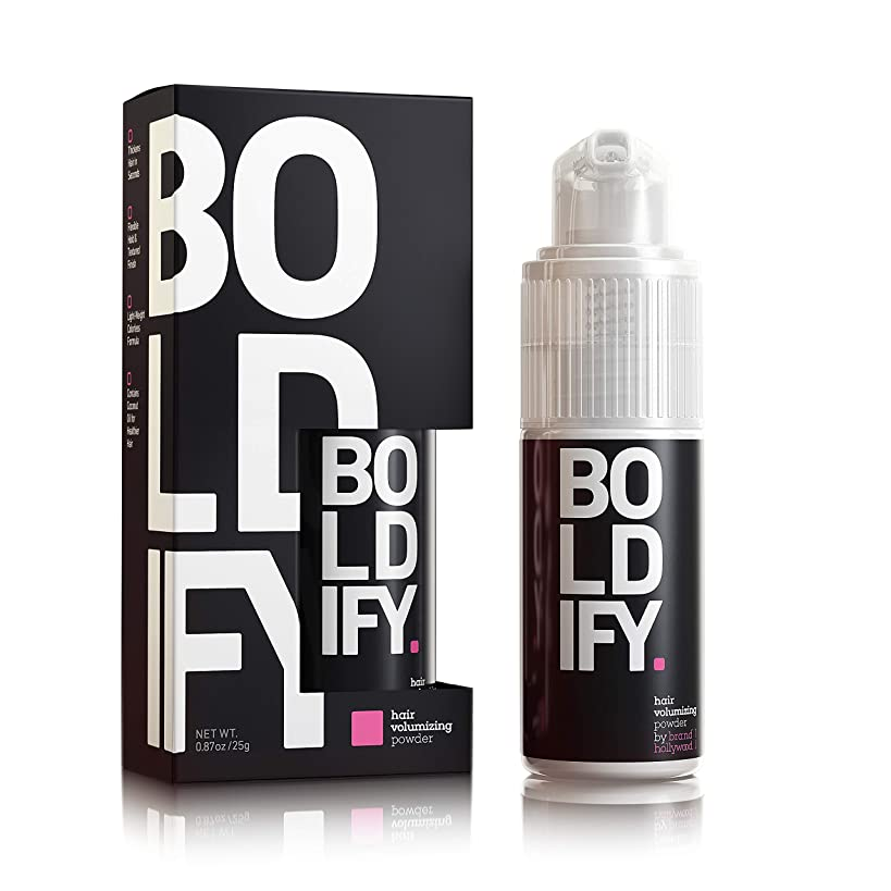BOLDIFY Hair Volumizing Powder - 24 Hour Volume & Softness - No Mess, Matting, or Clumping - Easily Comb Thin, Lifeless Hair to Luscious Fullness w Revolutionary Spray Pump Hair Powder Application