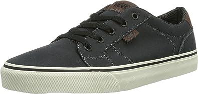 Vans Bishop (Waxed Canvas), color negro/azul de los ... - Amazon.com
