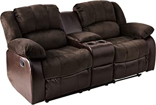 NHI Express Aiden Motion Loveseat & Console (1 Pack), Peat