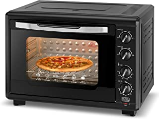 Black+Decker 55L Double Glass Multifunction Toaster Oven with Rotisserie for Toasting/ Baking/ Broiling, Black – TRO55RDG-B5