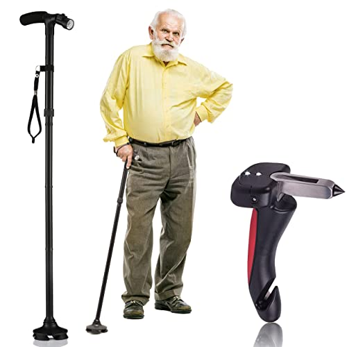 Walking Cane By Dr Maya With Free Car Tips LED Lights