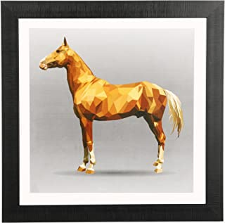 Sehaz Artworks 'Abstract Horse Modern' Wall Painting Frame (Fibre, 33.5 cm x 33.5 cm)