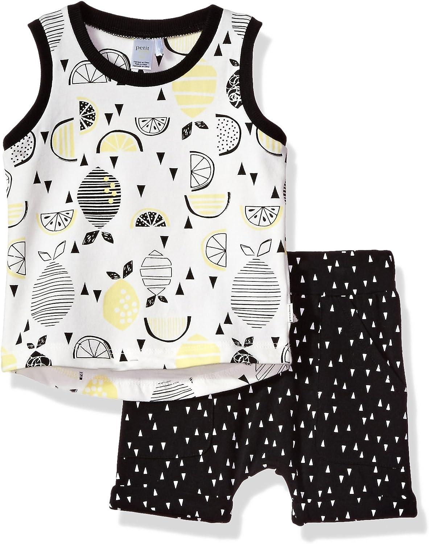 Petit Lem baby-boys Lemon Baby 2pc Set Tank Top & Short Knit