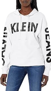 Calvin Klein Jeans womens Calvin Klein Jeans Women's Long Sleeve Drop Shoulder Hoodie