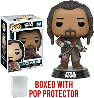 Funko Pop! Star Wars: Rogue One - Baze Malbus #141 Vinyl Figure (Bundled with Pop Box Protector Case)