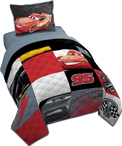 Jay Franco Pixar Cars 3 Twin Full Quilt Sham Set Super Soft Kids Bedding Features Red Fade Resistant Polyester Official Pixar Product