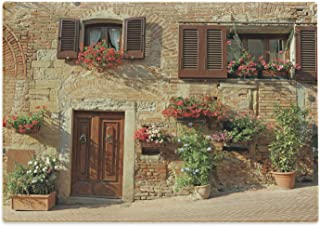 Lunarable Tuscan Cutting Board, Picturesque Lane