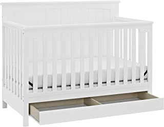Storkcraft Davenport 5-in-1 Convertible Crib with Drawer White