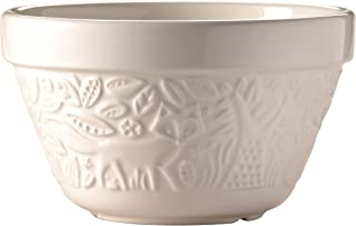 Mason Cash in The Forest Steam Bowl, Durable Stoneware Pudding Basin with Intricate Embossed Fox Design, 30-Fluid Ounces, 6-1/4 inch Diameter, Dishwasher and Oven Safe, Cream