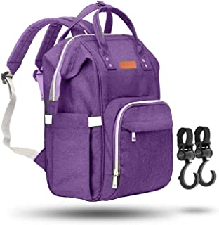 ZUZURO Diaper Bag Backpack – Waterproof w/Large Capacity & Multiple Pockets for..