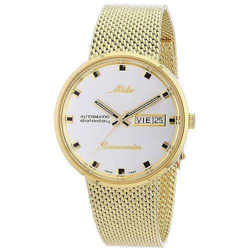 Mido Mens M8429.3.21.1 Analog Swiss Automatic Gold Plated Watch