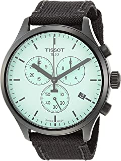 Men's Chrono XL Stainless Steel Swiss Quartz Sport Watch with Nylon Strap, Black (Model: T1166173709100)