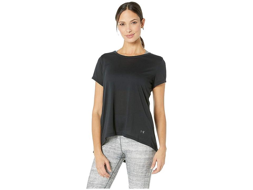 Under Armour UA Whisperlight Short Sleeve Fold-Over (Black/Black/Tonal) Women