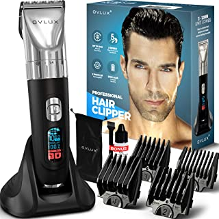 OVLUX Hair Clippers for Men, Professional 5 Speed Strong 7000rpm Rechargeable Cordless Clippers for Hair Cutting & Beard, ...