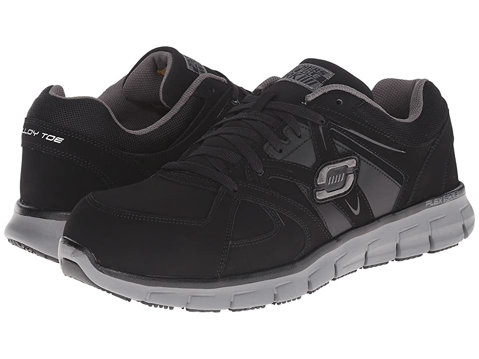 SKECHERS Work Synergy Ekron (Black Grey) Men