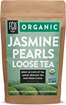 Sponsored Ad - Organic Jasmine Pearls Green Tea | Brew 50 Cups | 4oz/113g Resealable Kraft Bag | by FGO
