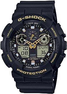男士 Casio G-Shock 模拟数字黑色表带手表 GA100GBX-1A9