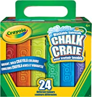 Crayola 24-Count Sidewalk Chalk,  Outdoor Activities, Washable, Bright, Colourful, Craft Supplies, Gift for Boys and...