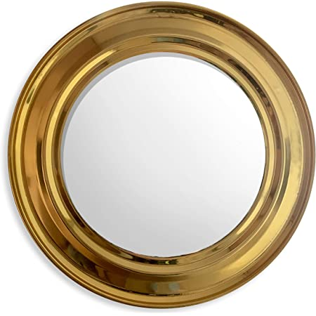 Artchetype Studio Gold Round Decorative Wall Mounted Mirror for Living Room, Hallway, Bedroom and Home Decor-18X18 inch Frame with 12 inch Mirror