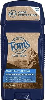 Tom's of Maine Long-lasting Mountain Spring Men's Natural Deodorant, 79 Grams