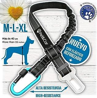 Cinturón de seguridad extensible para arnés de perro.