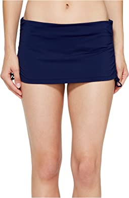 Pearl Solids Side Shirred Skirted Hipster Bottom