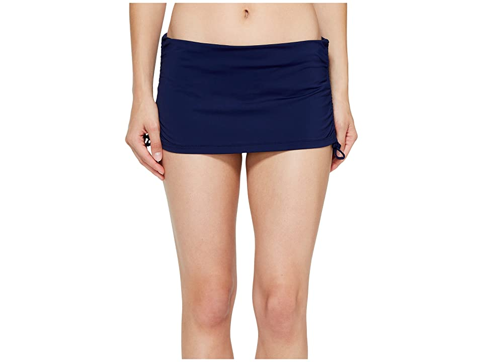Tommy Bahama Pearl Solids Side Shirred Skirted Hipster Bottom (Mare Navy) Women