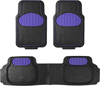 FH Group F11500 Touchdown Floor mats Full Set Rubber Floor Mats, Indigo Blue/Black Color- Fit Most Car, Truck, SUV, or Van