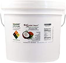 Coconut Oil - Food Grade - 8 lbs in a 1 Gallon Pail - HDPE microwavable container with resealable lid and removable handle